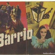 Cine: PTCC 067 BARRIO PROGRAMA DOBLE CINE ESPAÑOL TONY LEBLANC MANOLO MORAN MUY GRANDE Y RARO. Lote 285326333