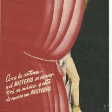 Foglietti di film di film antichi di cinema: PTCC 067 LA ESTRELLA DE VARIEDADES PROGRAMA DOBLE TROQUELADO BARBARA STANWYCK. Lote 285340858