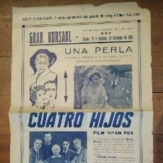 Cine: PTCC 069 CUATRO HIJOS PROGRAMA GRANDE LOCAL FOX JOHN FORD JOHN WAYNE JAMES HALL. Lote 285480988