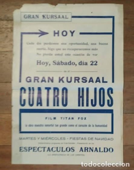 Cine: PTCC 069 CUATRO HIJOS PROGRAMA GRANDE LOCAL FOX JOHN FORD JOHN WAYNE JAMES HALL - Foto 2 - 285480988