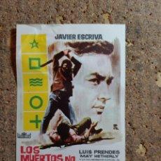 Folhetos de mão de filmes antigos de cinema: FOLLETO DE MANO DE LA PELICULA LOS MUERTOS NO PERDONAN. Lote 285548103