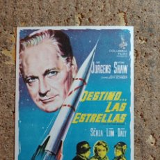Folhetos de mão de filmes antigos de cinema: FOLLETO DE MANO DE LA PELICULA DESTINO LAS ESTRELLAS. Lote 286062383