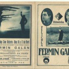 Cine: PTCC 071 FERMIN GALAN PROGRAMA DOBLE UCE FILMS CINE ESPAÑOL JOSE BAVIERA CELIA ESCUDERO FERN ROLDAN. Lote 286209343