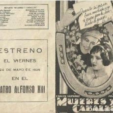 Foglietti di film di film antichi di cinema: PTCC 081 MUJERES Y CABALLOS PROGRAMA DOBLE UNIVERSAL MARIAN NIXON RICHARD WALLING CINE MUDO. Lote 286213398