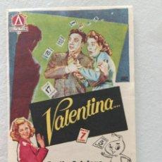 Cine: VALENTINA. Lote 286301253