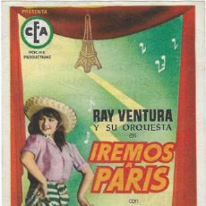 Cine: PROGRAMA CINE. IREMOS A PARIS. 19-1242. Lote 286473828