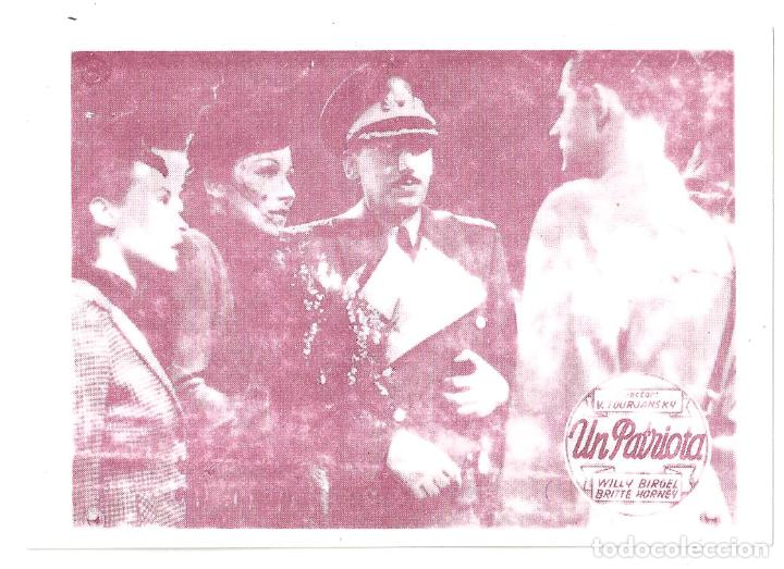 PTCC 065 UN PATRIOTA PROGRAMA TARJETA BRIGITTE HORNEY WILLY BIRGEL VICTOR TOURJASKI (Cine - Folletos de Mano - Bélicas)
