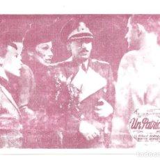 Cine: PTCC 065 UN PATRIOTA PROGRAMA TARJETA BRIGITTE HORNEY WILLY BIRGEL VICTOR TOURJASKI. Lote 286499938