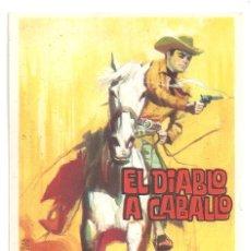 Cine: PTCC 065 EL DIABLO A CABALLO PROGRAMA SENCILLO SIN DISTRIBUIDORA WESTERN MEJICANO FERNANDO CASANOVA. Lote 286507153