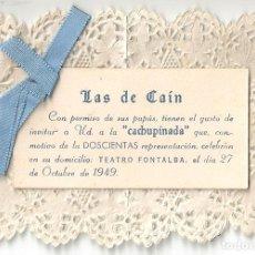 Cine: PTCC 065 LAS DE CAIN PROGRAMA TROQUELADO TEATRO FONTALBA ALFONSO CANDEL TARSILA CRIADO. Lote 286522338