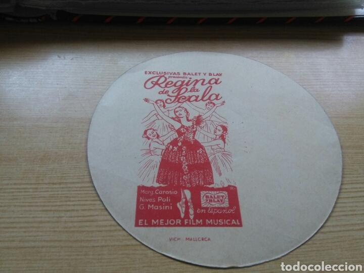 Cine: Antiguo y raro programa de cine troquelado. Regina de la Scala. En forma de disco - Foto 2 - 286626693
