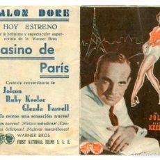 Cine: CASINO DE PARIS, CON AL JOLSON.. Lote 286740398