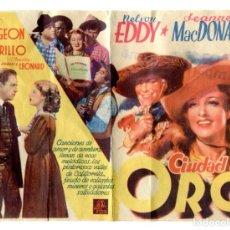 Cine: LA CIUDAD DEL ORO, CON JEANETTE MACDONALD.. Lote 286745083