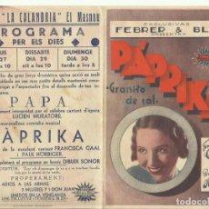 Cine: PTCC 074 PAPRIKA GRANITO DE SAL PROGRAMA DOBLE FEBRER Y BLAY FRANCISKA GAAL. Lote 286755043