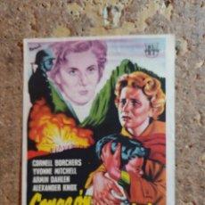 Folhetos de mão de filmes antigos de cinema: FOLLETO DE MANO DE LA PELICULA CORAZON DIVIDIDO CON PUBLICIDAD. Lote 286816923