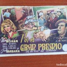 Cine: POR EL GRAN PREMIO (CON PUBLICIDAD). Lote 286817418