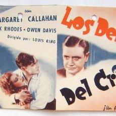 Folhetos de mão de filmes antigos de cinema: LOS DEFENSORES DEL CRIMEN, CON RICHARD DIX.. Lote 286837183