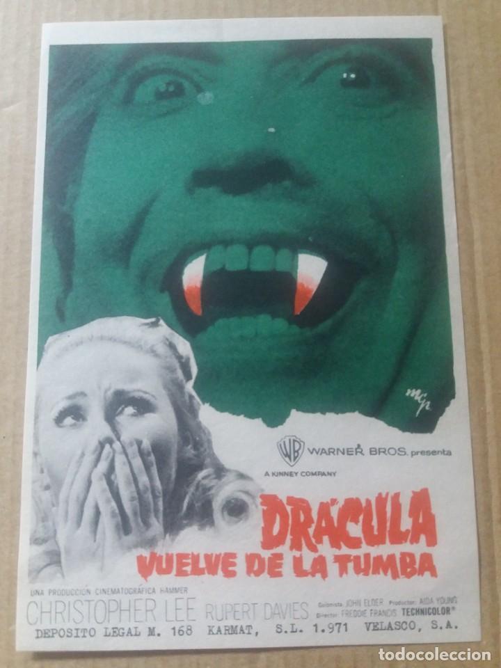 DRÁCULA VUELVE DE LA TUMBA (Cine - Folletos de Mano - Terror)