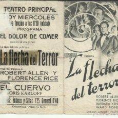 Cine: PTCC 074 LA FLECHA DEL TERROR PROGRAMA DOBLE COLUMBIA ROBERT ALLEN FLORENCE RICE BARBARA KENT. Lote 286891583