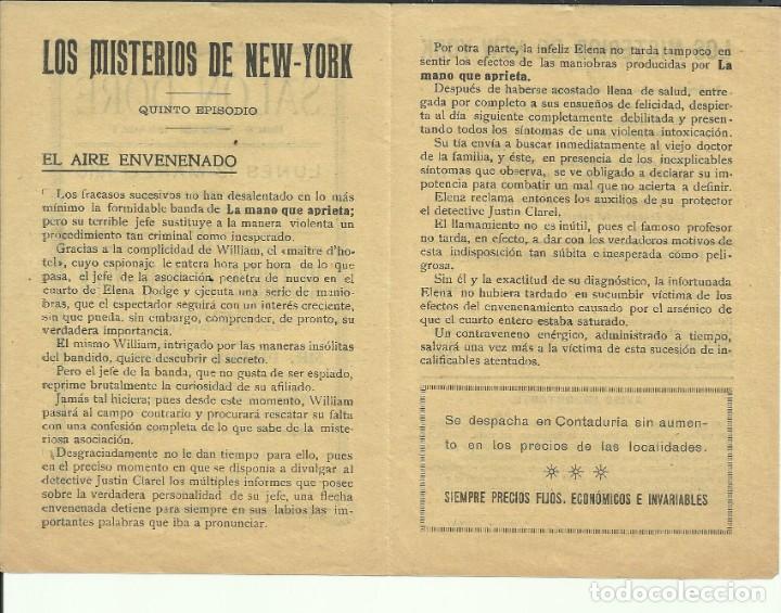 Cine: PTCC 082 LOS MISTERIOS DE NEW YORK PROGRAMA DOBLE PEARL WHITE SERIAL JORNADAS 1916 CINE MUDO - Foto 2 - 286893098