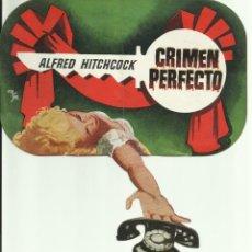 Cine: PTCC 082 CRIMEN PERFECTO PROGRAMA DOBLE TROQUELADO WARNER ALFRED HITCHCOCK GRACE KELLY. Lote 286894058