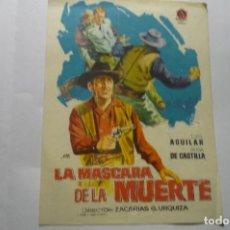 Cine: PROGRAMA LA MASCARA DE LA MUERTE -LUIS AGUILAR. Lote 286895083