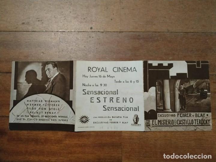 PTCC 082 EL MISTERO DEL CASTILLO TEROCKY PROGRAMA TRIPLE MATTHIAS WIEMANN (Cine - Folletos de Mano - Terror)