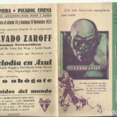 Cine: PTCC 082 EL MALVADO ZAROFF PROGRAMA DOBLE RKO TERROR JOEL MCCREA FAY WRAY LON CHANEY JR.. Lote 286912558