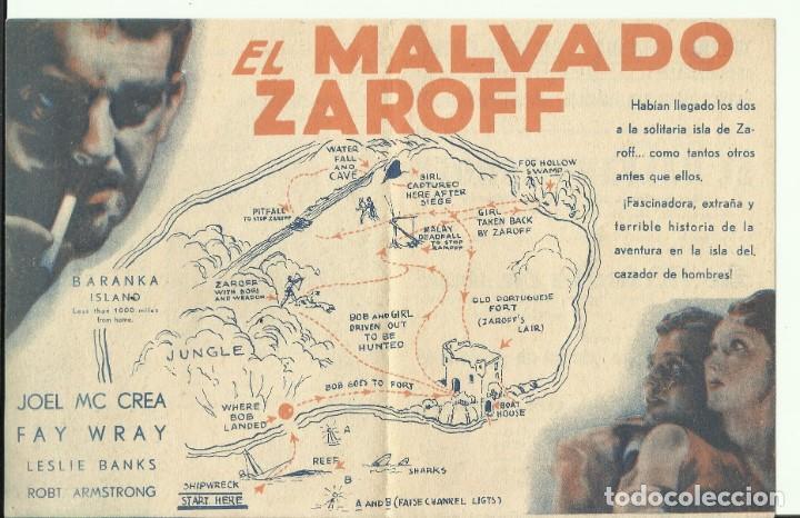 Cine: PTCC 082 EL MALVADO ZAROFF PROGRAMA DOBLE RKO TERROR JOEL MCCREA FAY WRAY LON CHANEY Jr. - Foto 2 - 286912558