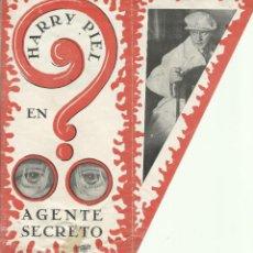 Cine: PTCC 082 AGENTE SECRETO PROGRAMA DOBLE TROQUELADO RENACIMIENTO FILMS HARRY PIEL. Lote 286950163