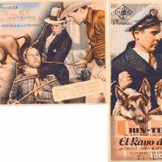 Cine: M153 RIN TIN TIN: LOTE 2 PROGRAMAS SENCILLOS DIANA-COLMILLOS VENGADORES+RAYO DEL TERROR-BEN TURPIN... Lote 286971593