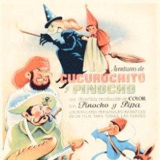 Cine: M156 LAS AVENTURAS DE CUCURUCHITO Y PINOCHO -CARLOS VÉJAR 1942–PRIMERA PELÍCULA DE ANIMACIÓN MEXICO. Lote 286971998