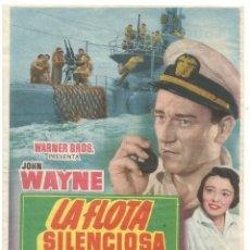 Cine: SENCILLO LA FLOTA SILENCIOSA 1954 EDUCACION Y DESCANSO EMPRESA DE CINE SANTA COLOMA DE QUERALT. Lote 287068563