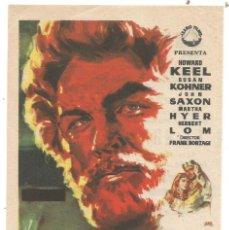 Folhetos de mão de filmes antigos de cinema: FOLLETO SENCILLO EL GRAN PESCADOR 1951 CINE CENTRO ( APOSTOLADO ) STA COLOMA DE QUERALT ILUSTRA JANO. Lote 287069523