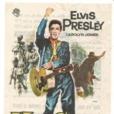 Cine: ELVIS PRESLEY KING CREOLE 1961 SENCILLO ILUSTRADO MAC CINE EDUCACION DESCANSO STA COLOMA DE QUERALT. Lote 287073263