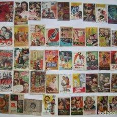 Folhetos de mão de filmes antigos de cinema: 50 PROGRAMAS SURTIDOS. LOTE Nº S-101 (16 CON IMPRESIÓN EN EL REVERSO).. Lote 287108103