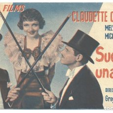 Cine: PTEB 068 SUCEDIO UNA VEZ PROGRAMA DOBLE COLUMBIA CLAUDETTE COLBERT MELVYN DOUGLAS. Lote 287138383