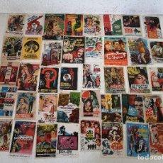 Folhetos de mão de filmes antigos de cinema: LOTE DE 40 FOLLETOS DE MANO DE CINE DE ESPÍAS, ANTIGUOS O VINTAGE, DIFÍCILES, UNOS 17 X 12 CMS.. Lote 287151093