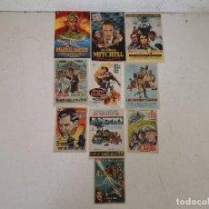 Folhetos de mão de filmes antigos de cinema: LOTE DE 10 FOLLETOS DE MANO DE CINE BÉLICO, ANTIGUOS O VINTAGE, DIFÍCILES, UNOS 17 X 12. Lote 287152243