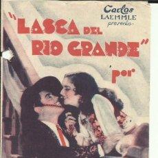 Cine: PTCC 075 LASCA DEL RIO GRANDE PROGRAMA DOBLE UNIVERSAL LEO CARRILLO JOHNNY MACK BROWN. Lote 287181968