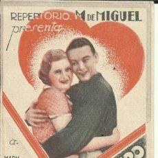 Cine: PTCC 081 PRISIONERO DE MI CORAZON PROGRAMA DOBLE REPERTORIO M DE MIGUEL MARY GLORY ROLAND TOUTAIN. Lote 287182048