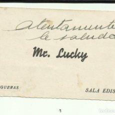Cine: PTCC 083 MR LUCKY PROGRAMA TARJETA DE VISITA TROQUELADO RKO CARY GRANT. Lote 287182208