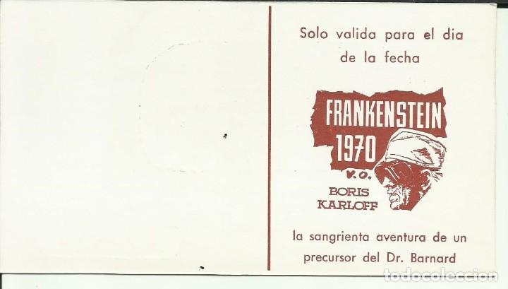 Cine: PTCC 082 FRANKENSTEIN 1970 PROGRAMA TARJETA INVITACION BORIS KARLOFF raro - Foto 2 - 287182238