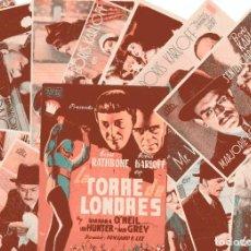 Cine: M168 BORIS KARLOFF: LOTE 13 PROGRAMAS DE CINE. Lote 287362563