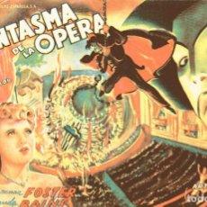 Cine: M169 EL FANTASMA DE LA OPERA: PROGRAMA SENCILLO GRANDE -UNIVERSAL 1940'S- NELSON EDDY&RAINS&FOSTER. Lote 287363008