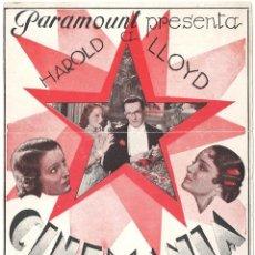 Cine: PTEB 069 CINEMANIA PROGRAMA DOBLE PARAMOUNT HAROLD LLOYD CONSTANCE CUMMINGS. Lote 287368283
