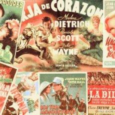 Cine: M191 JOHN WAYNE: LOTE 7 PROGRAMAS SENCILLOS Y TROQUELADOS–DILIGENCIA, FORJA DE CORAZONES/DIETRICH.... Lote 287371693
