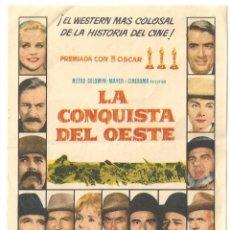 Cine: PTEB 069 LA CONQUISTA DEL OESTE PROGRAMA SENCILLO MGM DEBBIE REYNOLDS JOHN WAYNE JAMES STEWART. Lote 287382653