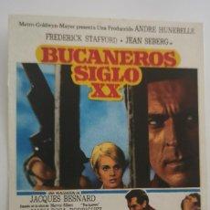 Folhetos de mão de filmes antigos de cinema: BUCANEROS SIGLO XX. Lote 287387733