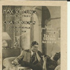 Foglietti di film di film antichi di cinema: PTCC 076 EL AMOR EN EL RING PROGRAMA DESPLEGABLE TERRA MAX SCHMELING OLGATSCHECHOWA RENATE MULLER. Lote 287398508